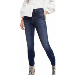FREE PEOPLE Dark Wash Distressed Skinny Jeans 26